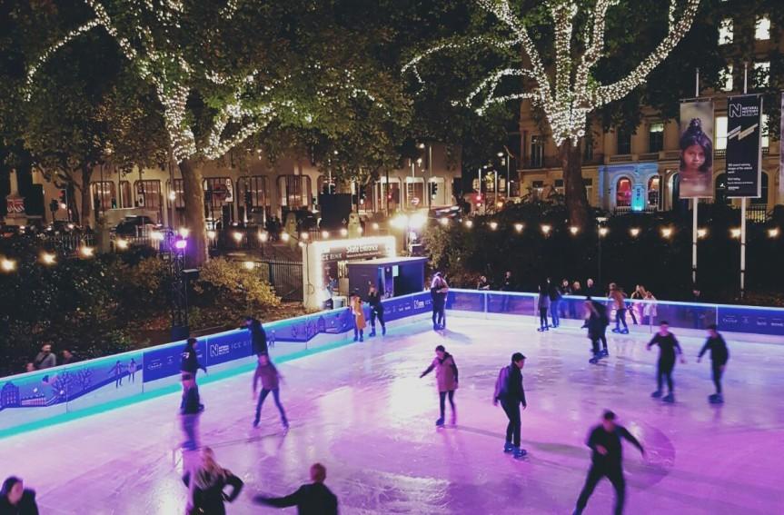 Ice skating @ Natural HistoryMuseum