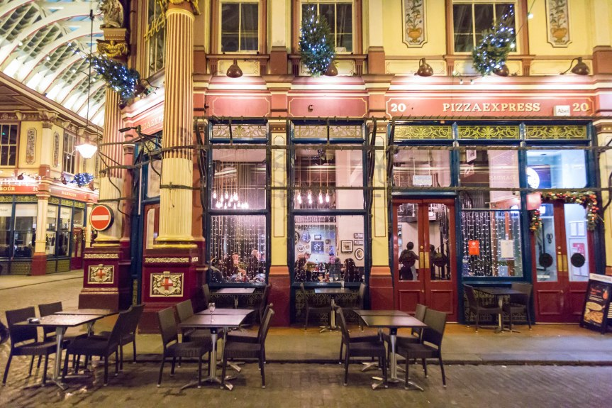 The charm of Leadenhall market and PizzaExpress